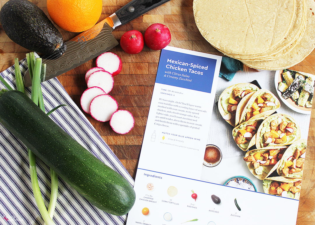 Blue Apron Chicken Tacos