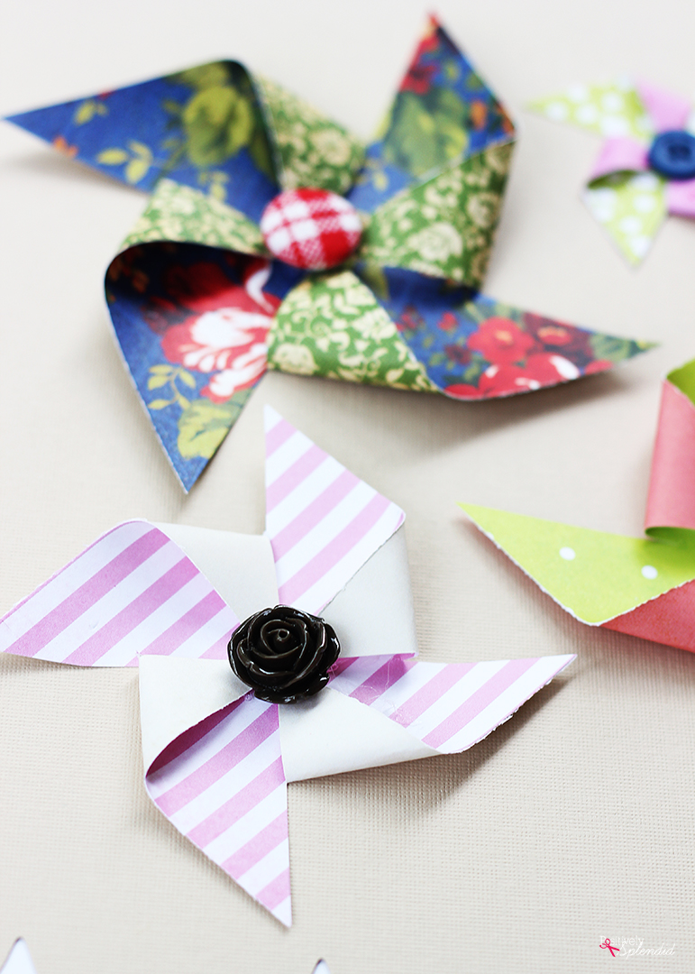 How to Make Paper Pinwheels - easy method for making ...