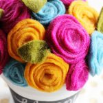 How to Make Rolled Felt Flowers