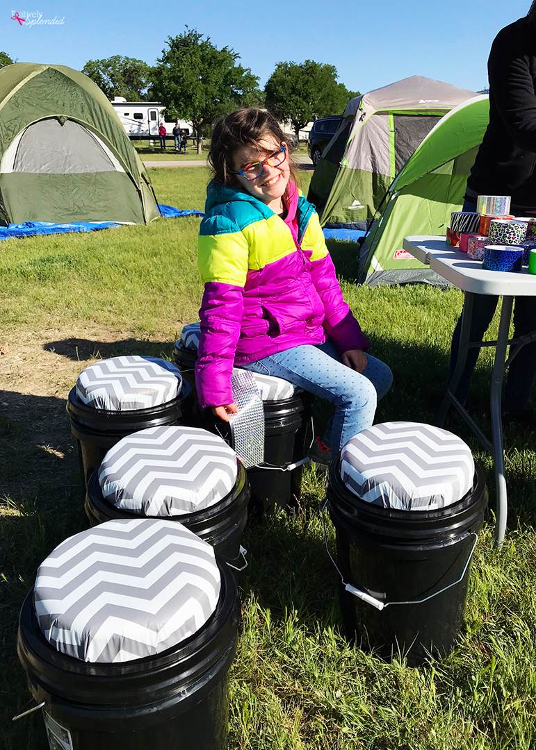 Girl Scout Sit Upon Camping Bucket Seat