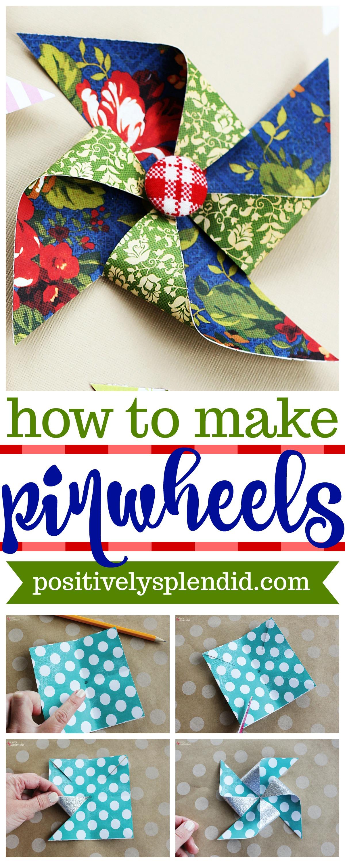 How to Make DIY Paper Pinwheels