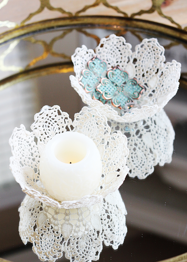 Doily Bowl with Mod Podge