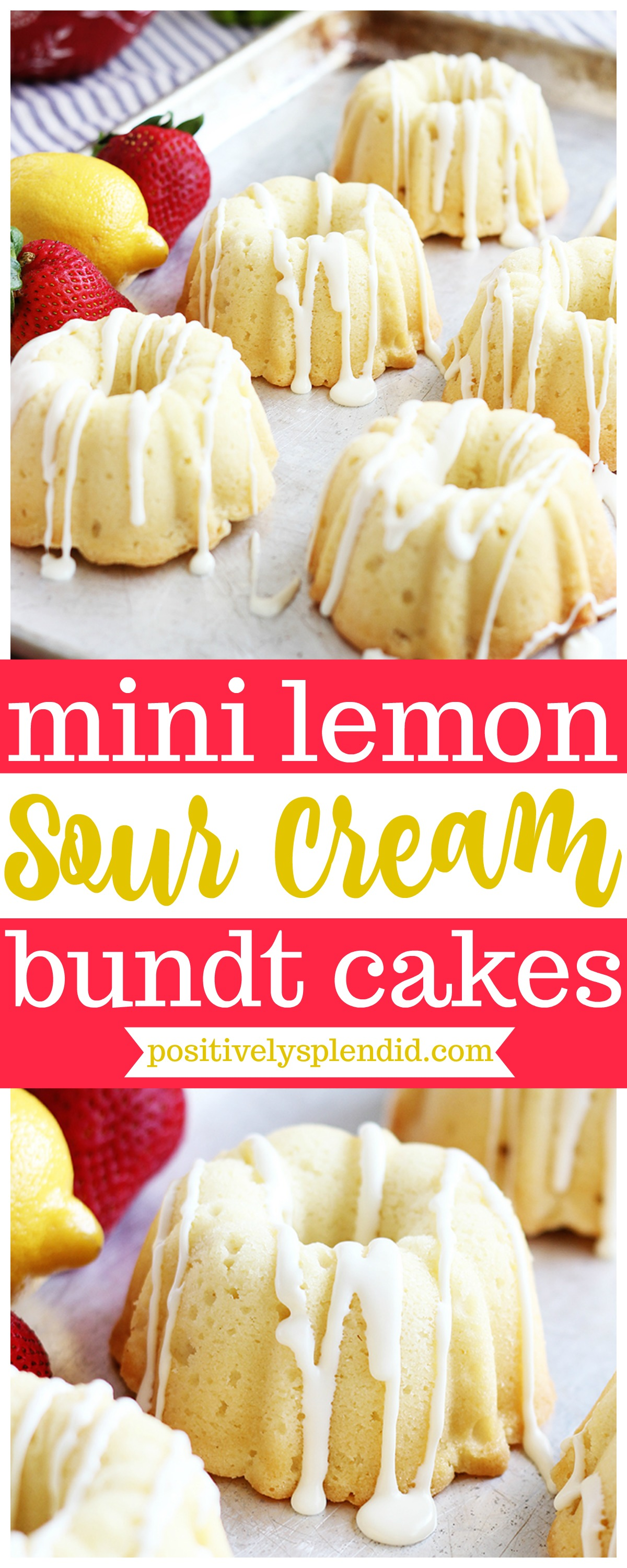 Lemon Sour Cream Mini Bundt Cake Recipe