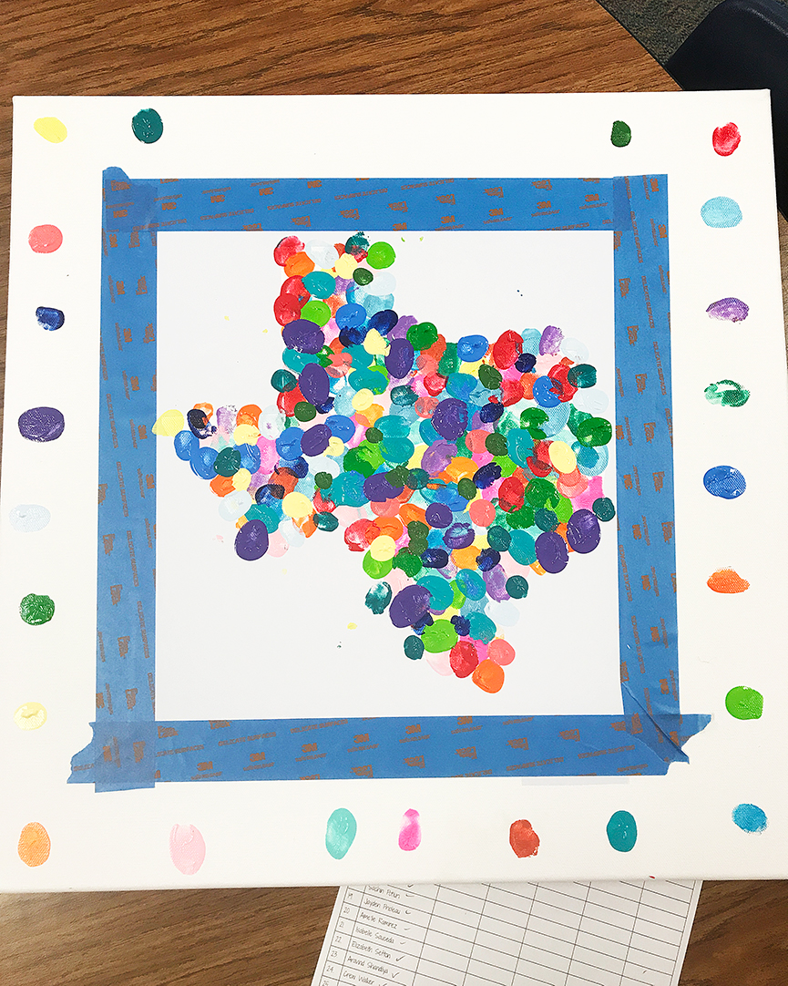 State Thumbprint Art Teacher Gift Idea