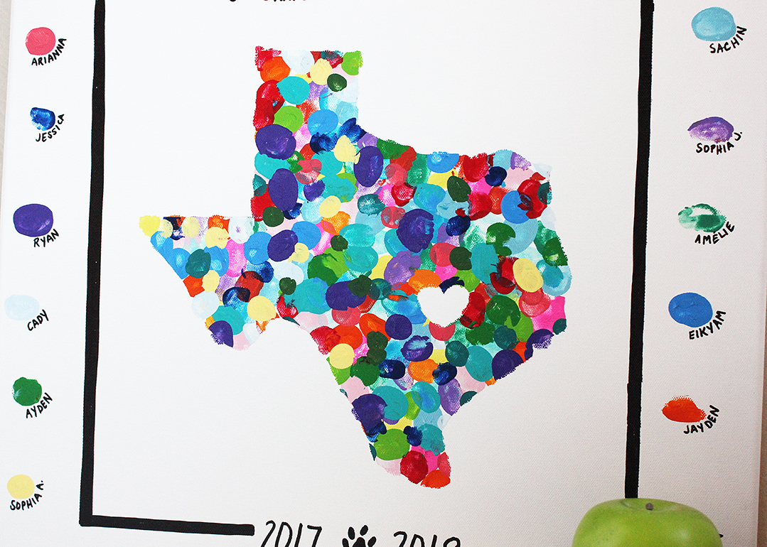 State Thumbprint Project for Kids