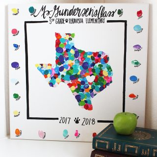 Thumbprint State Art Teacher Gift Idea