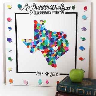 Thumbprint State Art Teacher Gift Idea