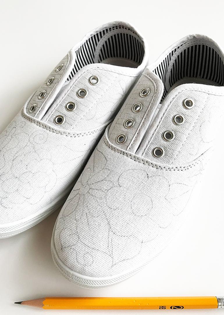 Diy Doodle Fabric Marker Shoes A Fun Wearable Craft Idea