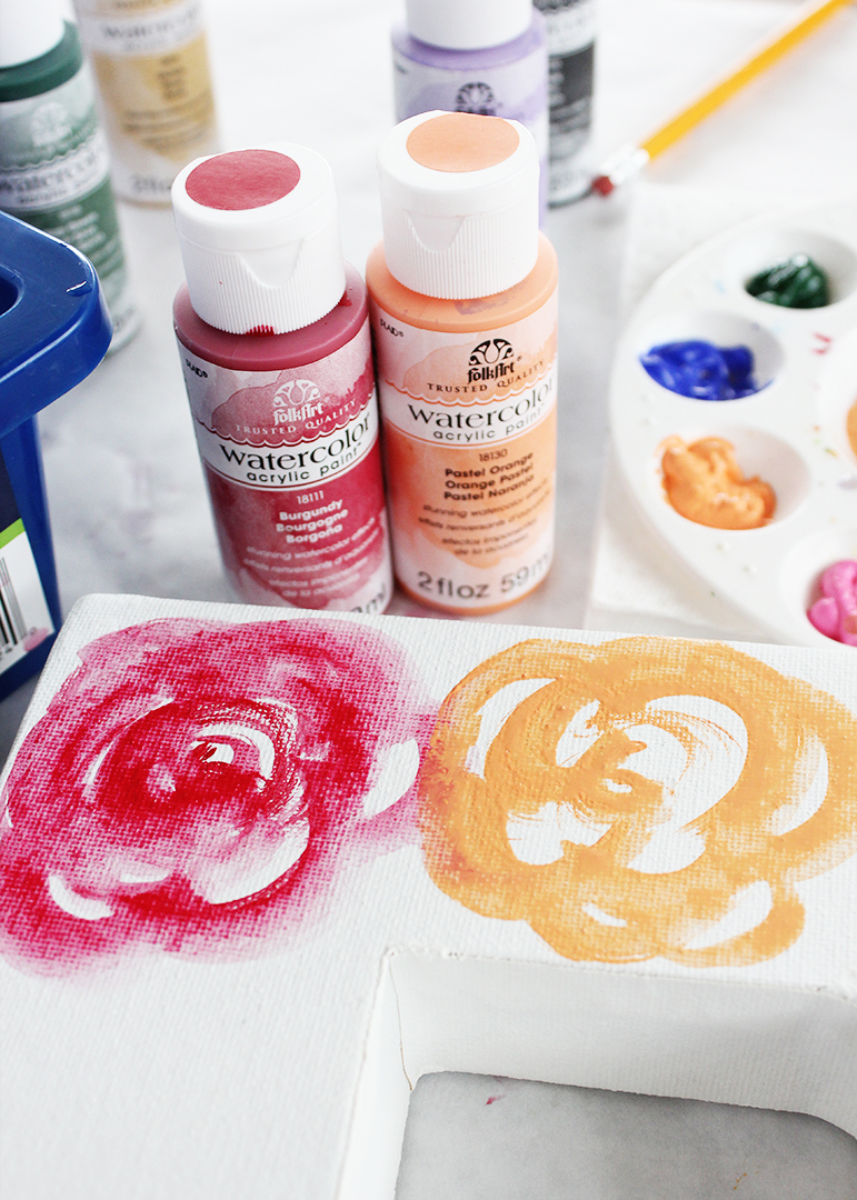 Easy Watercolor Roses