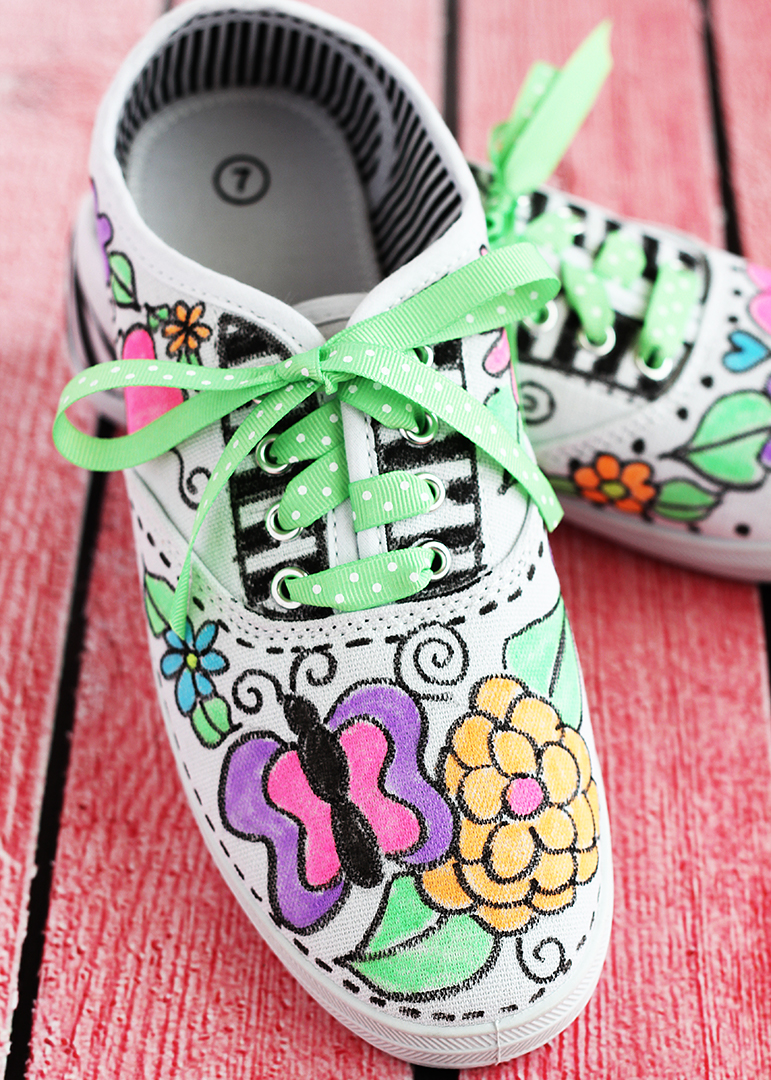 Fabric Maker Doodle Sneakers
