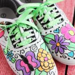 Fabric Pen Canvas Tennis Shoes