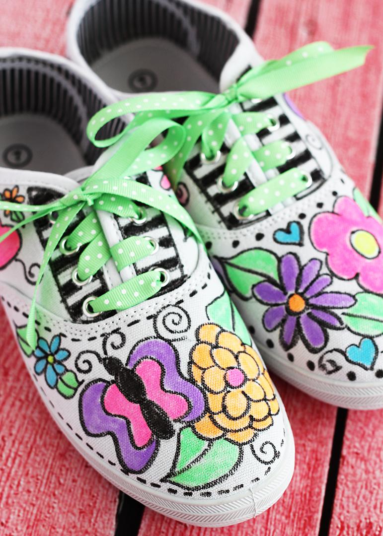 Fabric Pen Canvas Tennis Shoes