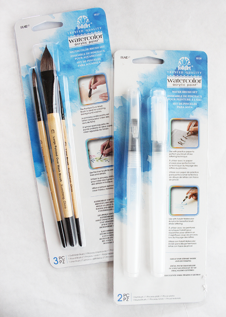 FolkArt Watercolor Paint Brush Sets