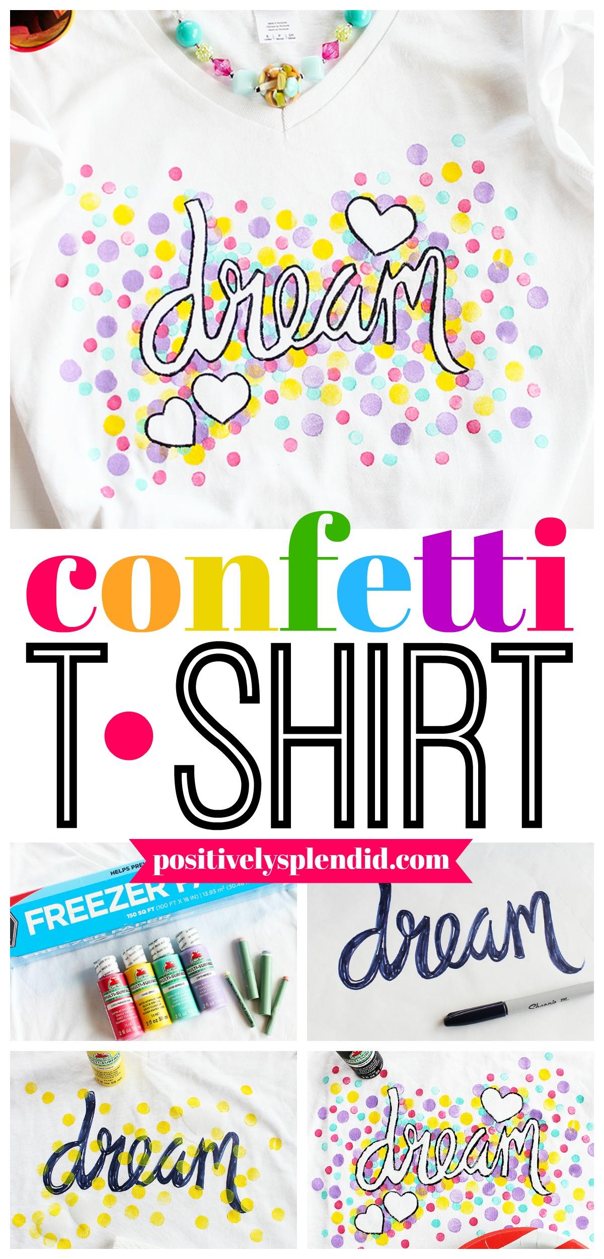 Freezer Paper Confetti Shirt