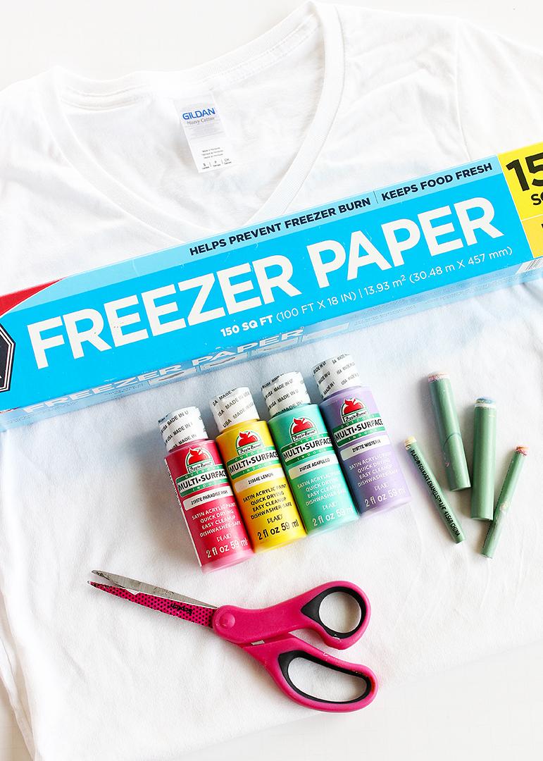 Freezer Paper Stencil Shirt Tutorial