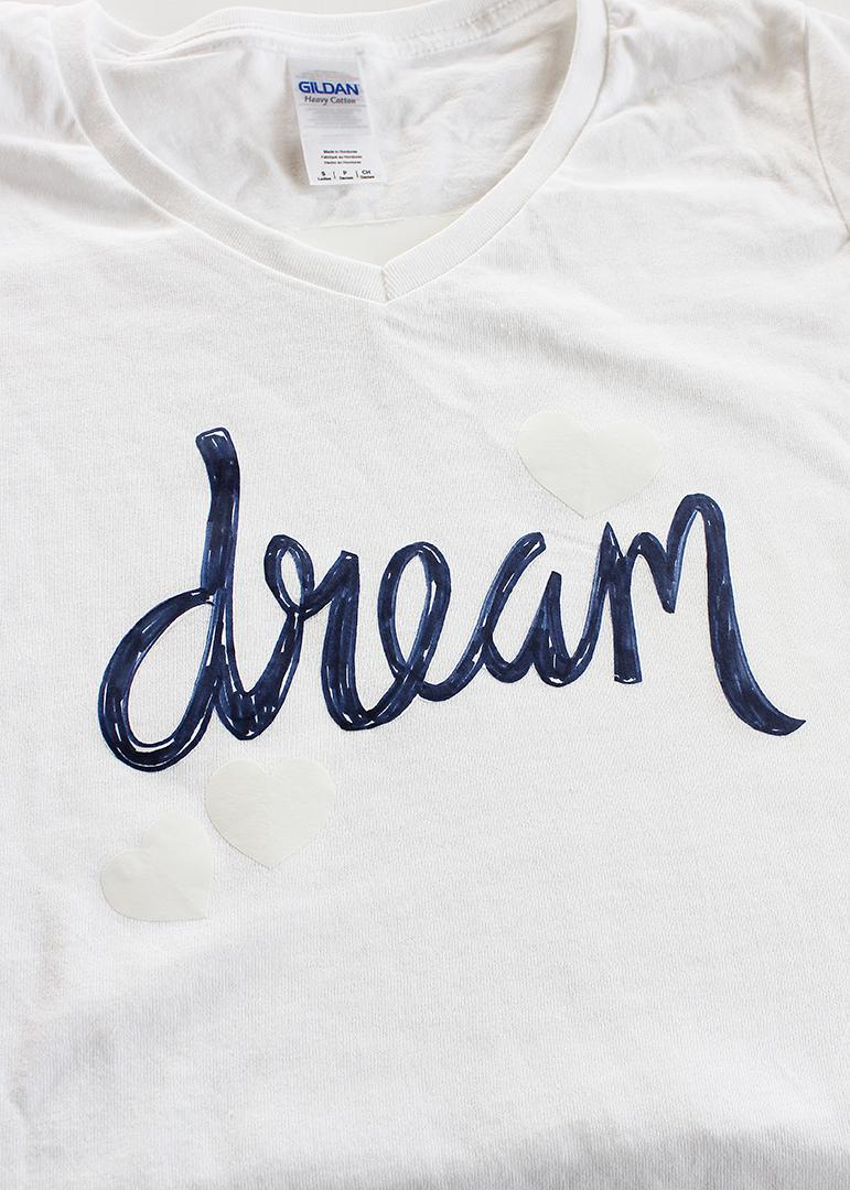 Freezer Paper Stencil Tshirt