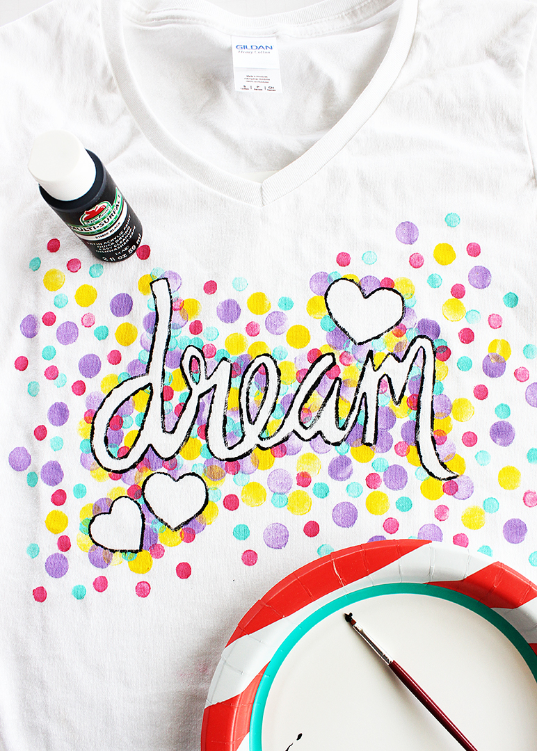 Kids Painted T Shirt