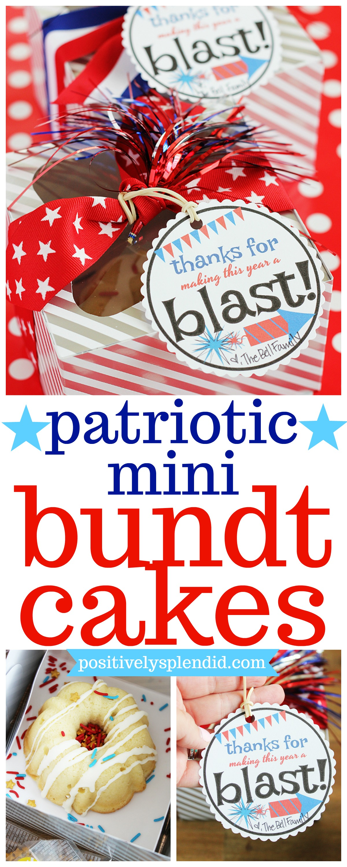 Patriotic Mini Bundt Cakes Gift Idea