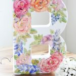DIY Monogram Watercolor Canvas
