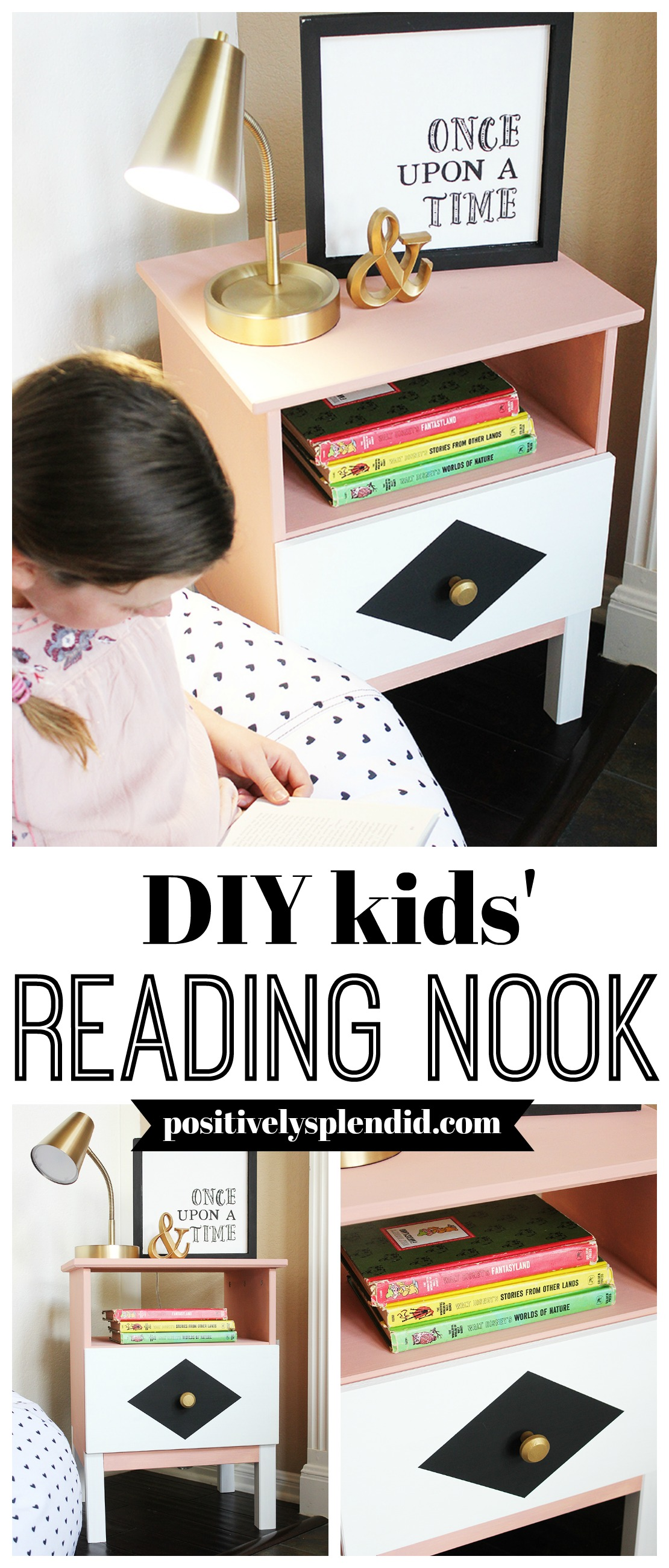 DIY Reading Nook for Kids - IKEA Tarva Nightstand Hack