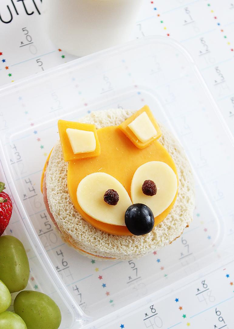How to make sandwiches shaped like a fox