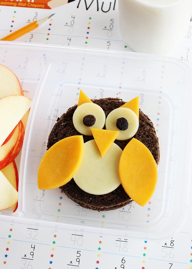 Adorable owl sandwiches