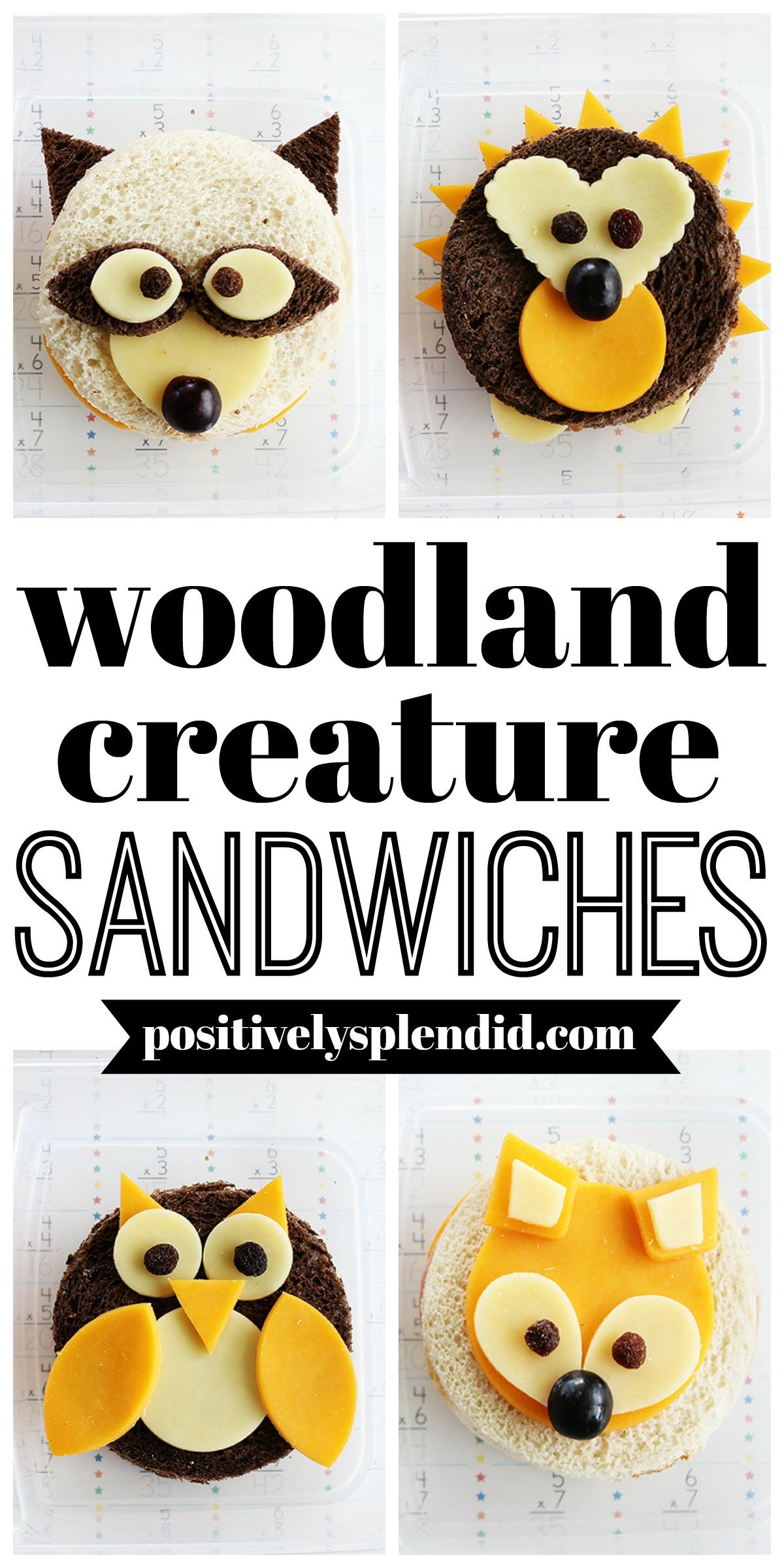 Woodland Animal Sandwich Tutorial