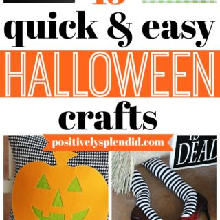 15 Easy and Quick Halloween Crafts