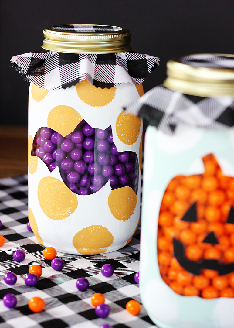 Bat Halloween Mason Jar