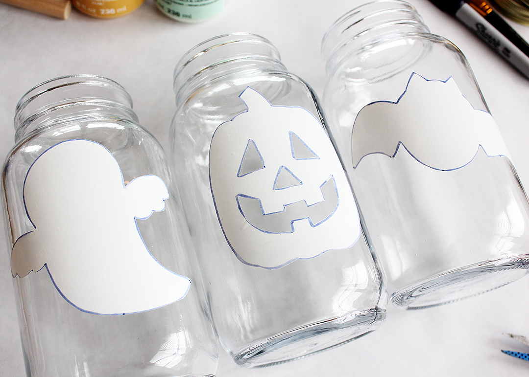 Halloween Mason Jar Tutorial