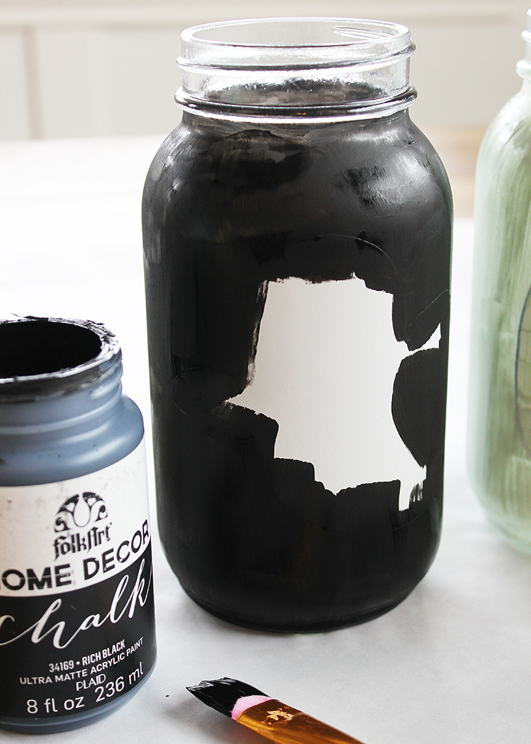 Painted Halloween Mason Jars