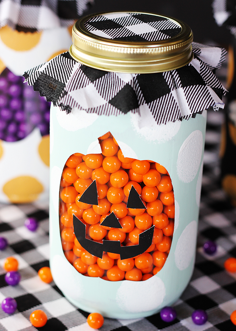 Pumpkin Halloween Mason Jar