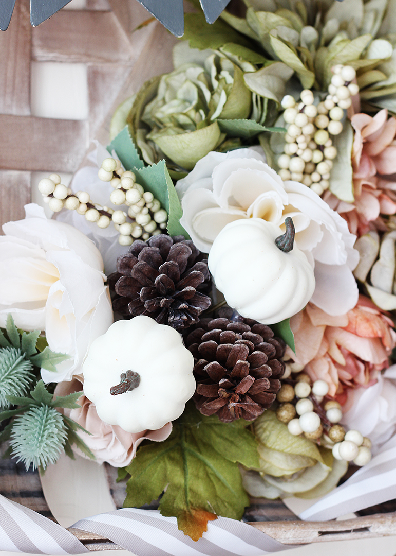 Artificial Fall Flowers and Pumpkins