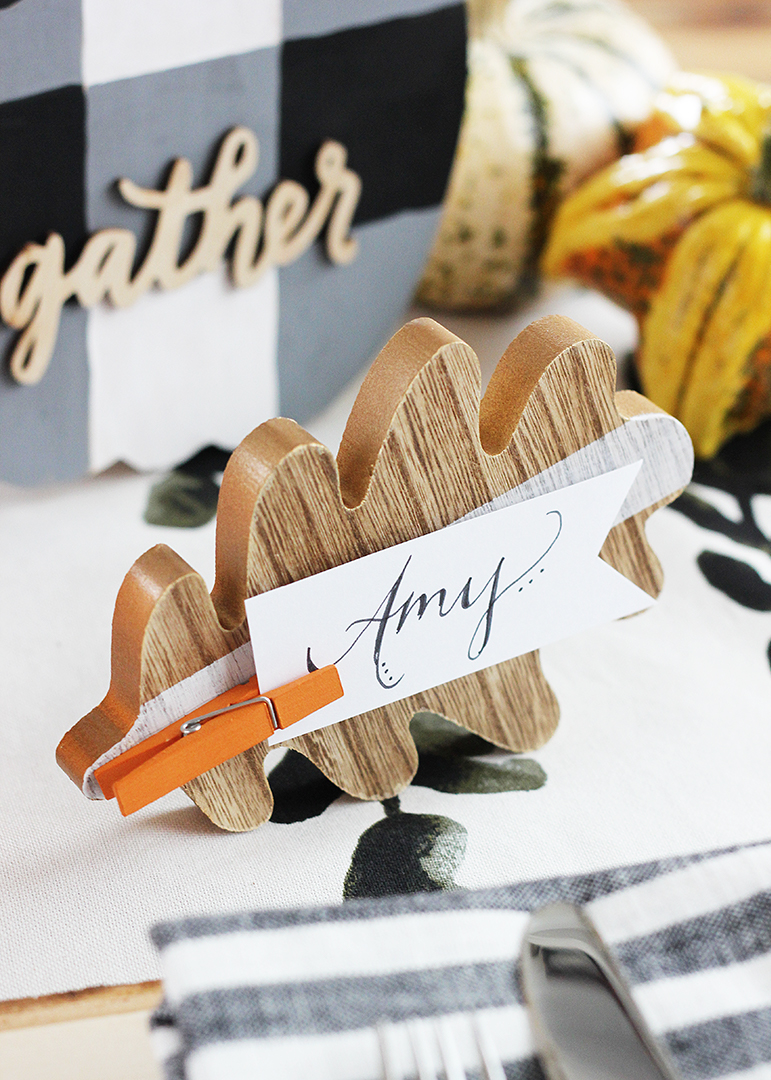 Fall Leaf DIY Place Card Holder