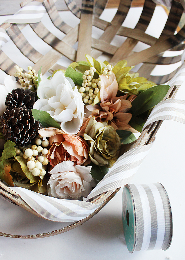 Fall Tobacco Basket Wreath