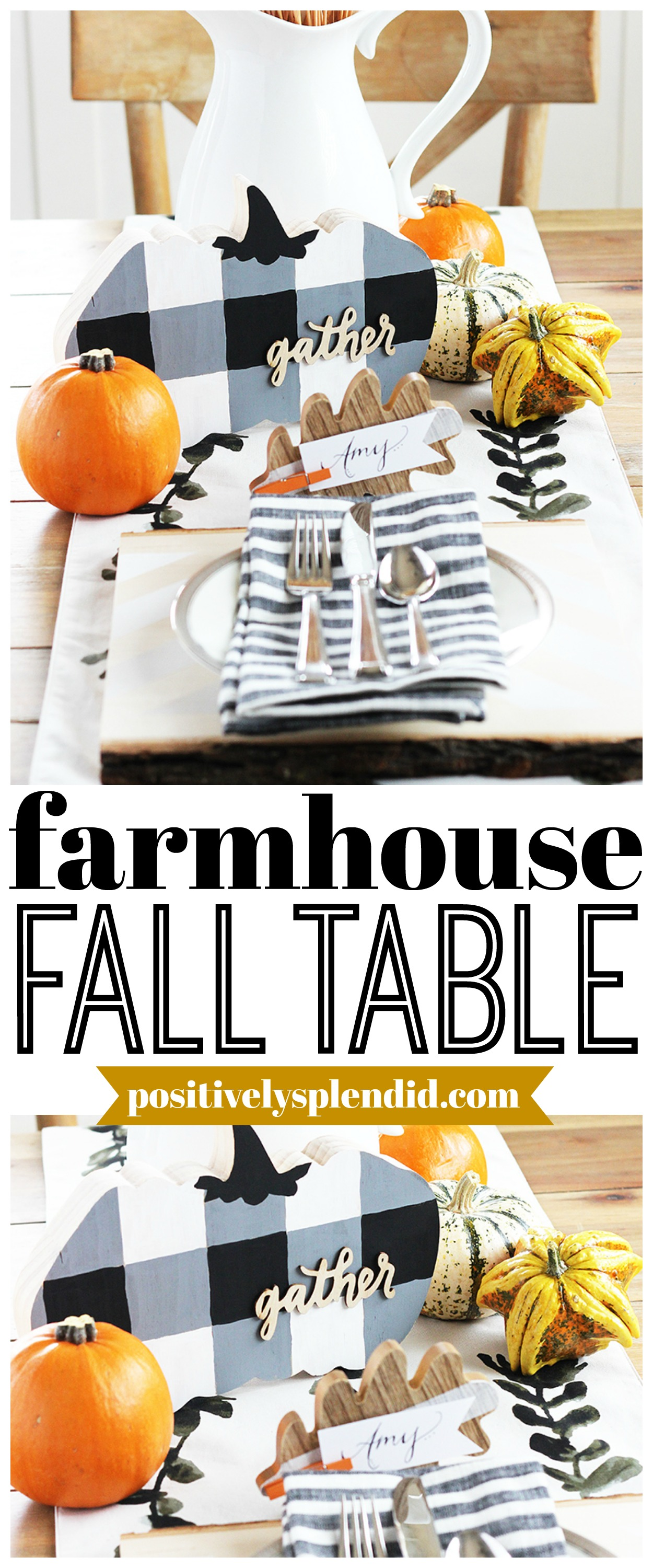 Farmhouse Fall Table DIY Table Setting Idea