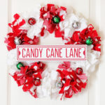 Candy Cane Christmas Rag Wreath