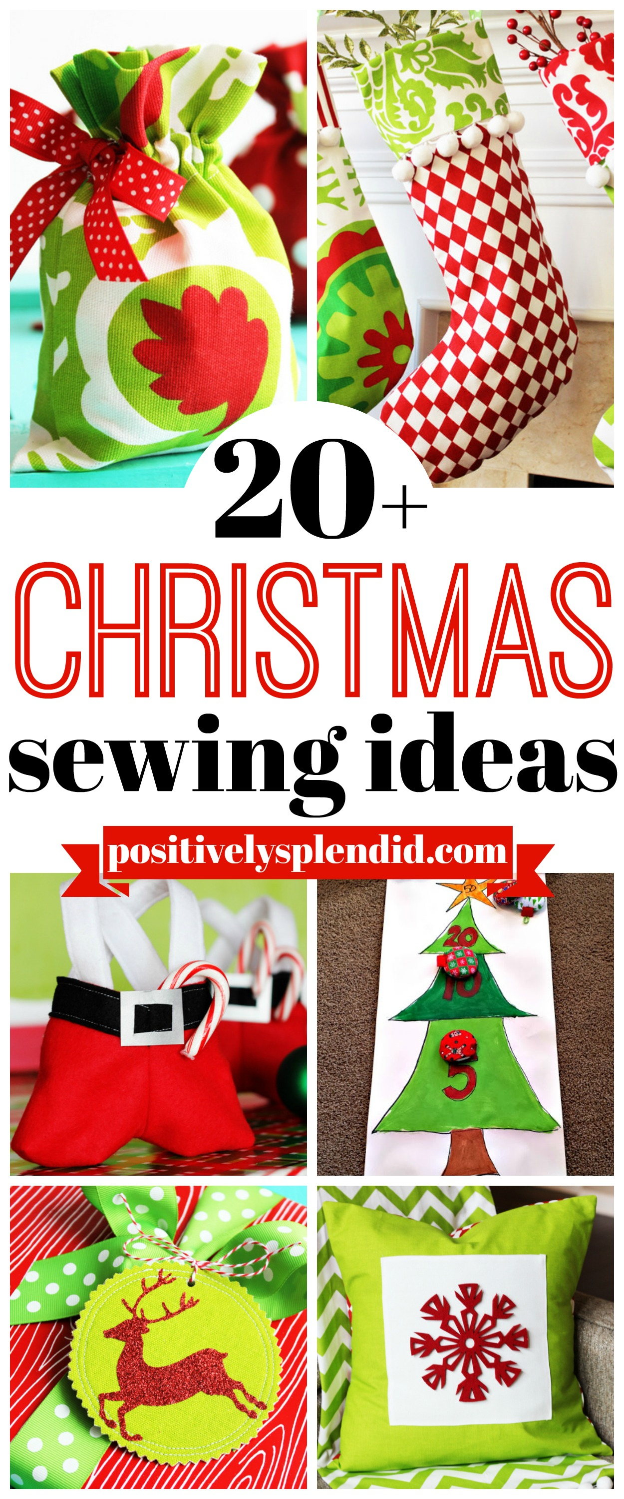 Christmas Sewing Ideas - 20+ great projects to make for the holidays!