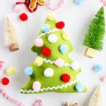 Fabric Christmas Tree Softie Sewing Pattern