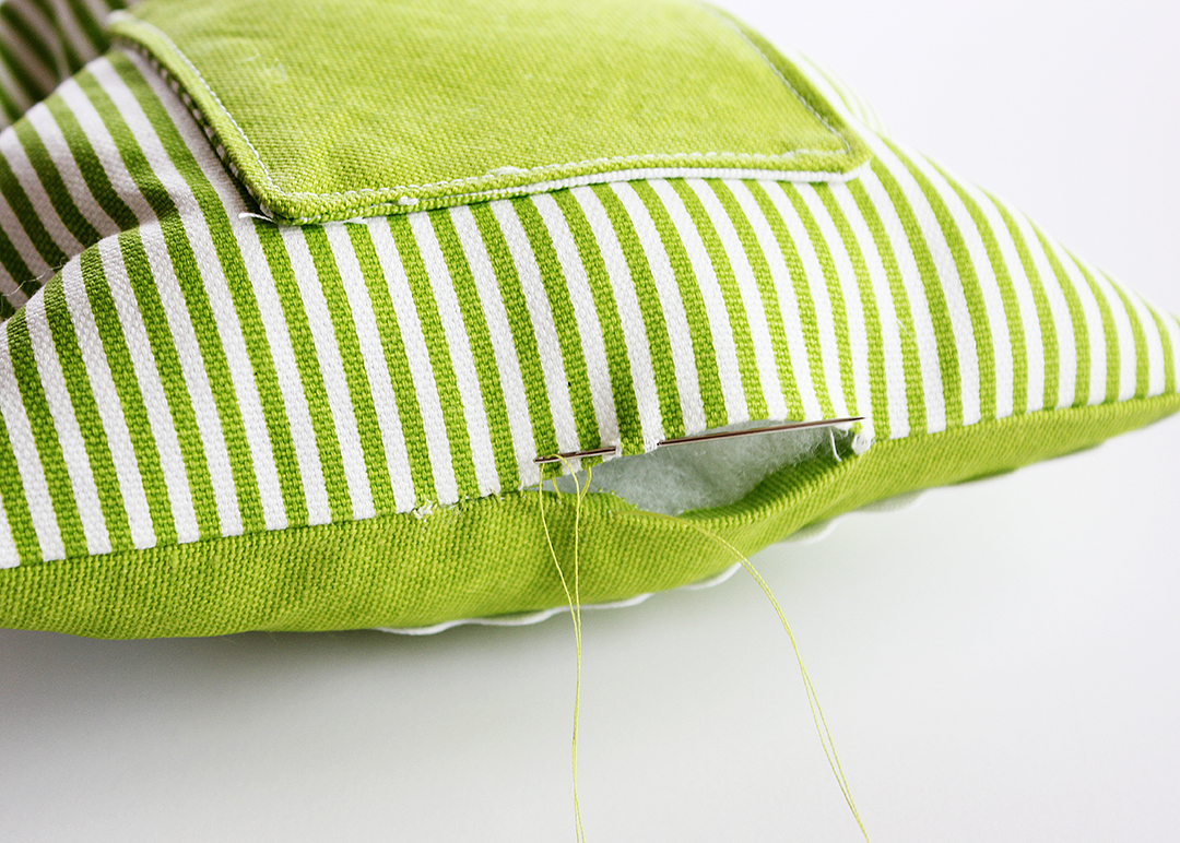 Sew Pillow Opening Closed