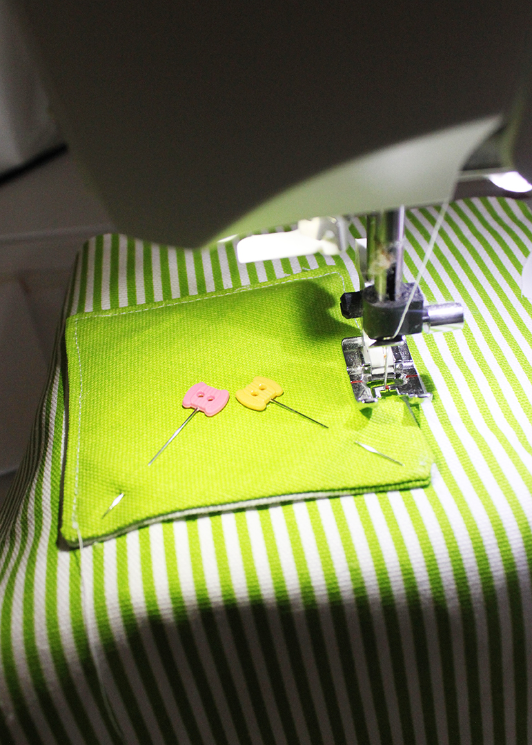 Sew Pocket on Pillow
