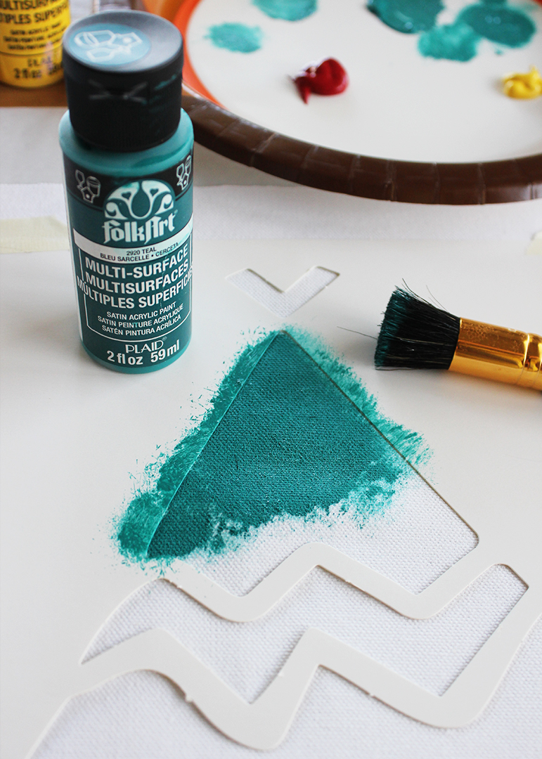 Stenciling with Folk Art Multi Surface Paint