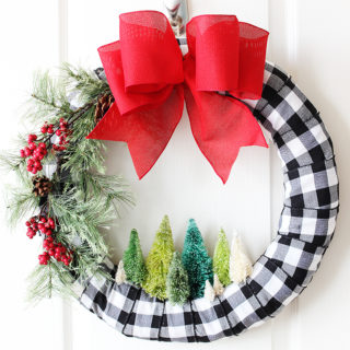 Bottle Brush DIY Christmas Wreath