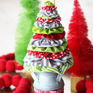 Fabric Yoyo Christmas Tree