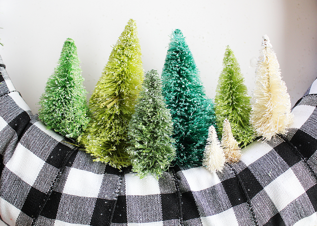 Miniature Bottle Brush Christmas Trees