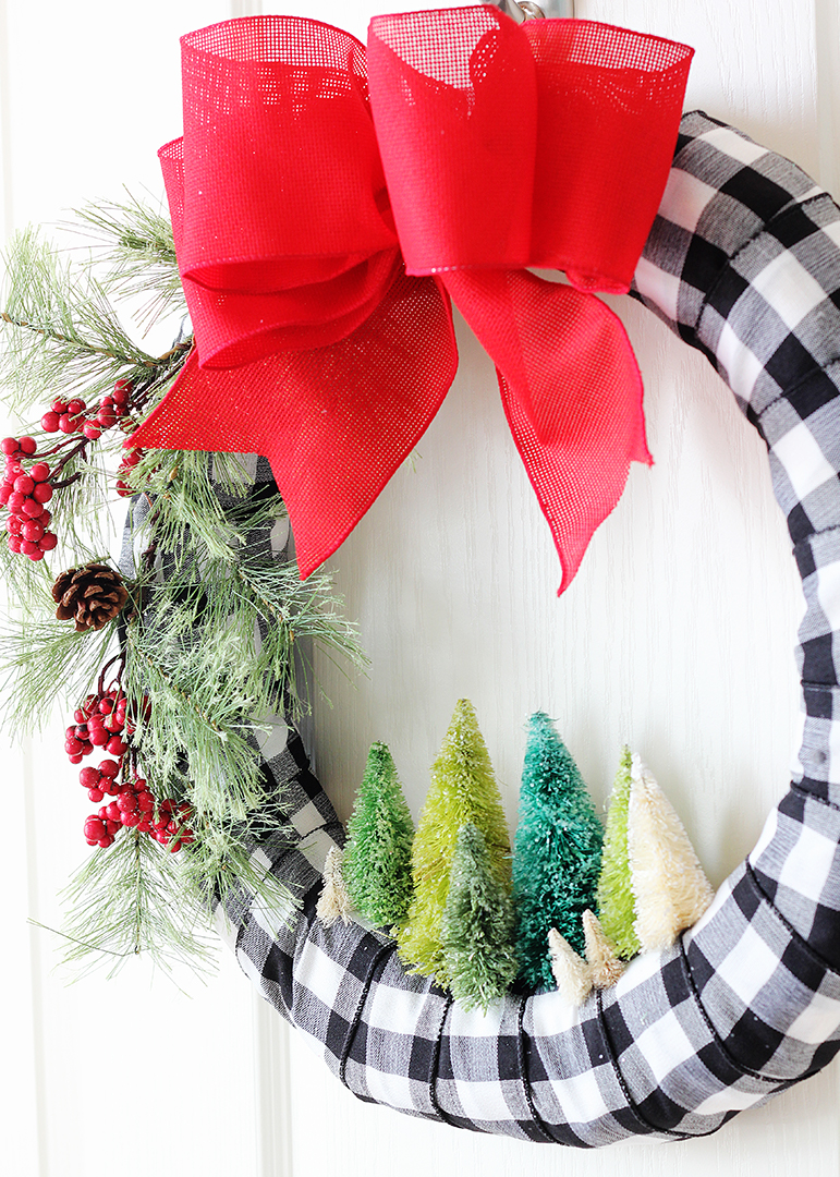 Miniature Tree DIY Christmas Wreath