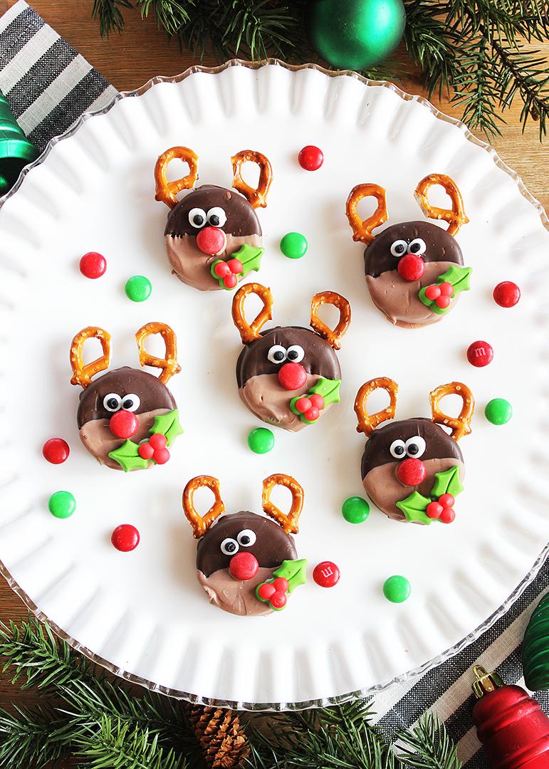 Reindeer Christmas Oreo Cookies