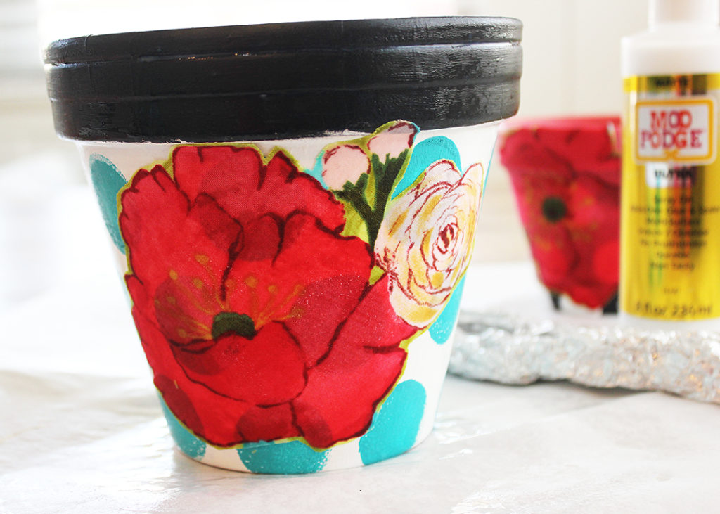 Mod Podge Ultra Fabric Clay Pots