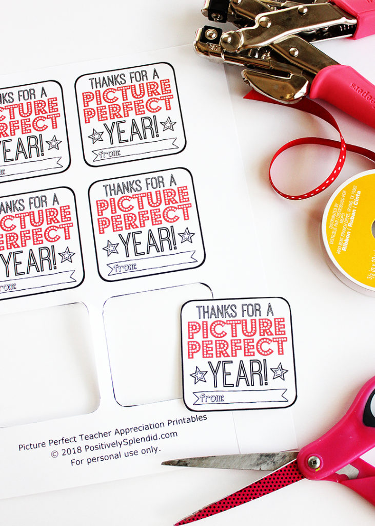 Movie Teacher Appreciation Gift Printable