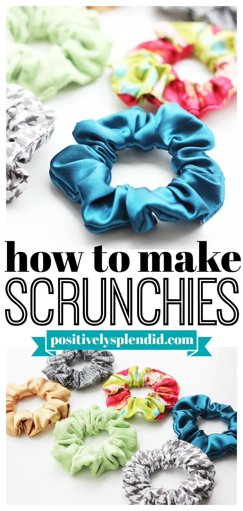 DIY Scrunchie Pattern and Tutorial